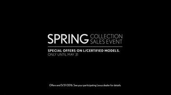 Lexus Spring Collection Sales Event TV Spot, 'L/Certified Program' - Thumbnail 4