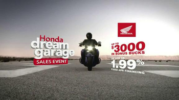 Honda Dream Garage Sales Event TV Spot, 'Motorcycles, ATVs, Side-by-Side' - Thumbnail 7