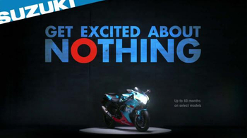 Suzuki TV Spot, 'Get Excited About Nothing'