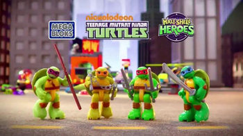 Mega Bloks Half-Shell Heroes Turtle Lair TV Spot, 'Roll Into Battle'