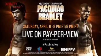 XFINITY Latino TV Spot, 'La pelea entre Pacquiao y Bradley' [Spanish]
