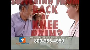 Plus Benefits TV Spot, 'Back and Knee Brace Announcement' - Thumbnail 2