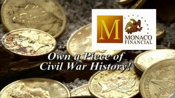 Monaco Financial TV Spot, 'Historic Civil War Coins'