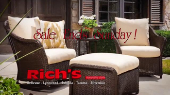Rich's Furniture Half-off Sale TV Spot, 'Furniture and Fire Pits' - Thumbnail 6
