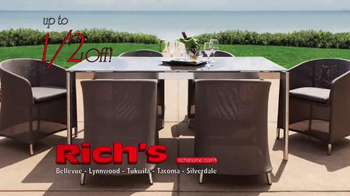 Rich's Furniture Half-off Sale TV Spot, 'Furniture and Fire Pits' - Thumbnail 2