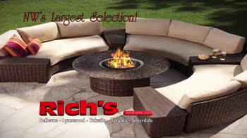 Rich's Furniture Half-off Sale TV Spot, 'Furniture and Fire Pits' - Thumbnail 3
