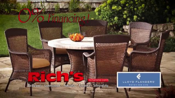 Rich's Furniture Half-off Sale TV Spot, 'Furniture and Fire Pits' - Thumbnail 4