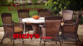Rich's Furniture Half-off Sale TV Spot, 'Furniture and Fire Pits' - Thumbnail 5