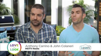 Lowe's TV Spot, 'HGTV: Love the Look: Spring' Featuring Anthony Carrino - Thumbnail 2