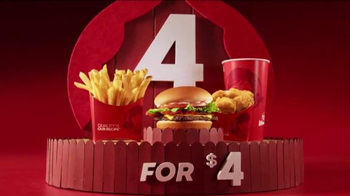 Wendy's 4 for $4 Meal TV Spot, 'Even Bigger News'