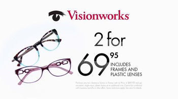 Visionworks Yellow Tag Clearance TV Spot, 'Two Looks' - Thumbnail 1