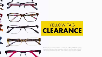 Visionworks Yellow Tag Clearance TV Spot, 'Two Looks' - Thumbnail 2