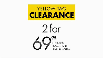 Visionworks Yellow Tag Clearance TV Spot, 'Two Looks' - Thumbnail 5