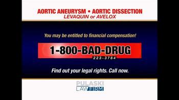 Pulaski Law Firm TV Spot, 'Levaquin or Avelox' - Thumbnail 4