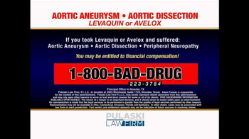 Pulaski Law Firm TV Spot, 'Levaquin or Avelox' - Thumbnail 8