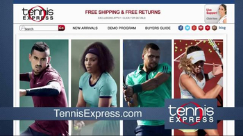 Tennis Express TV Spot, 'Largest Selection in the World' - Thumbnail 1