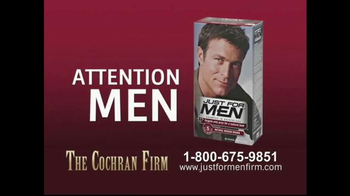 The Cochran Law Firm TV Spot, 'Just for Men' - Thumbnail 1