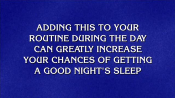 Aleve PM TV Spot, 'Jeopardy: Good Night's Sleep'