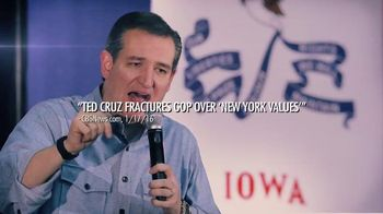 New Day Independent Media Committee TV Spot, 'Ted Cruz & New York Values' - 4 commercial airings