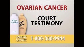 Davis & Crump, P.C. TV Spot, 'Ovarian Cancer' - Thumbnail 5