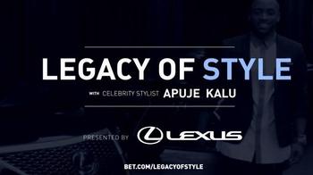 Lexus TV Spot, 'BET: Legacy of Style' - Thumbnail 9