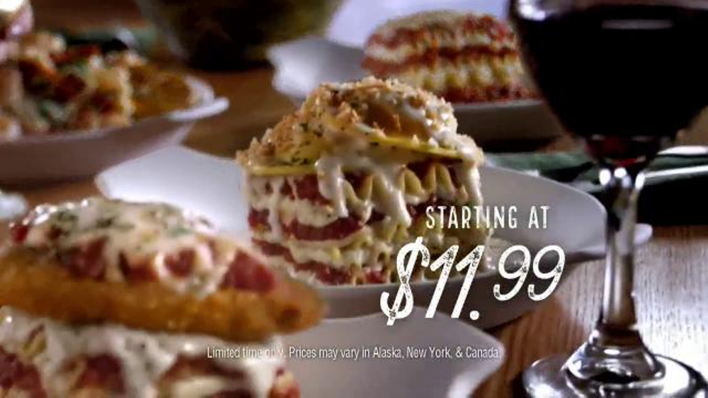 Olive garden lasagnas tv commercial 39 layer on the love - What time does the olive garden close ...