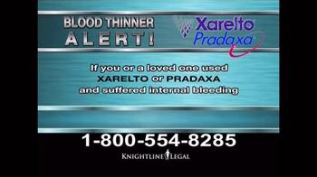 Knightline Legal TV Spot, 'Blood Thinner Alert' - Thumbnail 2