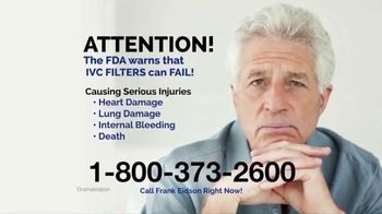 Law Offices of Frank Eidson TV Spot, 'IVC Blood Clot Filters'