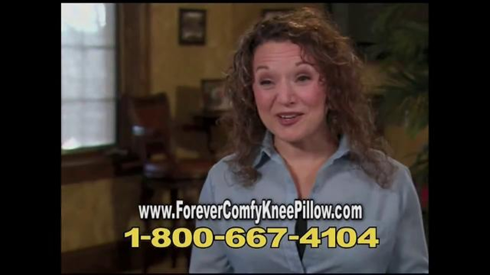 Forever Comfy Cooling Knee Pillow TV Commercial, 'Anatomically Aligned Support'