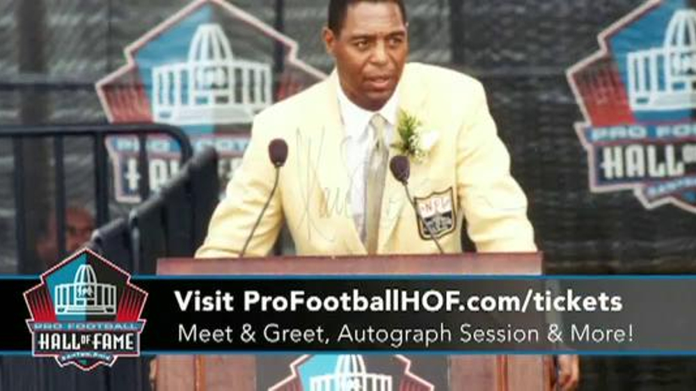 info for 2a031 67113 Pro Football Hall of Fame Gold Jacket Great Day TV Commercial, 'Marcus  Allen' - Video