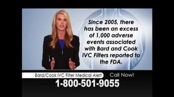 Weitz and Luxenberg TV Spot, 'Bard or Cook IVC Filter Medical Alert'