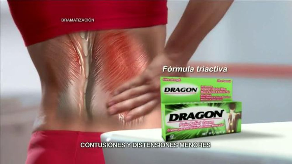 Dragon Pain Relief Cream TV Commercial, 'Alivio muscular'
