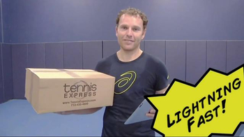 Tennis Express TV Spot, 'Whose Faster?' Featuring Michael Russell - 20 commercial airings
