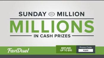 FanDuel One-Week Fantasy Football Leagues TV Spot, 'Millions on the Line' - Thumbnail 2