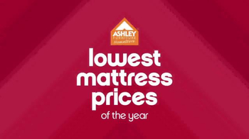 Ashley Furniture Homestore Lowest Prices of the Year TV Spot, 'Mattresses' - Thumbnail 2