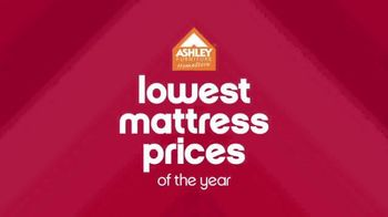 Ashley Furniture Homestore Lowest Prices of the Year TV Spot, 'Mattresses' - 4 commercial airings