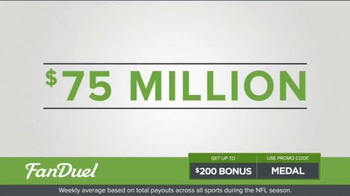 FanDuel One-Week Fantasy Football Leagues TV Spot, 'Win Big' - Thumbnail 3