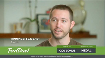 FanDuel One-Week Fantasy Football Leagues TV Spot, 'Win Big' - Thumbnail 7