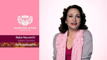 Ford Warriors in Pink TV Spot, 'Madam Secretary' Featuring Bebe Neuwirth - 1 commercial airings