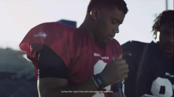 Microsoft Surface TV Spot, 'NFL: Giving You an Edge' Feat. Russell Wilson - Thumbnail 4
