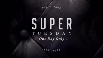 JoS. A. Bank Super Tuesday TV Spot, 'Huge Suit and Outerwear Selection' - Thumbnail 1