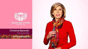 Ford Warriors in Pink TV Spot, 'The Good Wife' Featuring Christine Baranski - Thumbnail 1