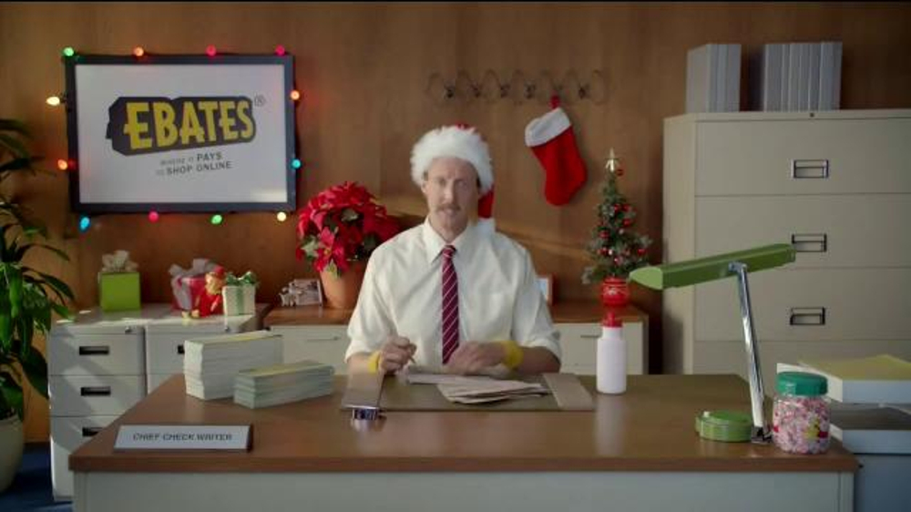 Ebates TV Commercial, 'Check Writer: Eggnog'