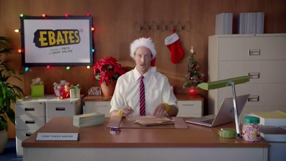 Ebates TV Commercial, 'Check Writer: Santa'