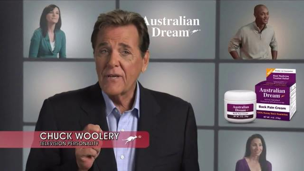 australian dream back pain cream tv commercial   u0026 39 real medicine u0026 39  ft  chuck woolery