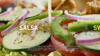 Subway Sweet Onion Chicken Teriyaki TV Spot, 'Menos calorías' [Spanish] - Thumbnail 6