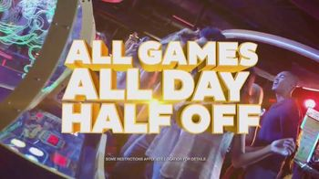 Dave and Buster's TV Spot, 'Half-Price Games Wednesday'