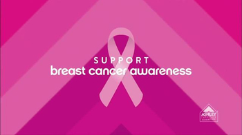 Ashley Furniture Homestore TV Spot, 'Support Breast Cancer Awareness' - 19 commercial airings