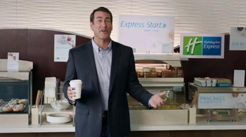 Holiday Inn Express TV Spot, 'Deals Over Bacon' Featuring Rob Riggle - 1616 commercial airings