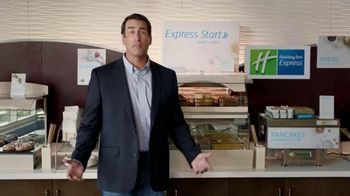 Holiday Inn Express TV Spot, 'Deals Over Bacon' Featuring Rob Riggle - Thumbnail 2
